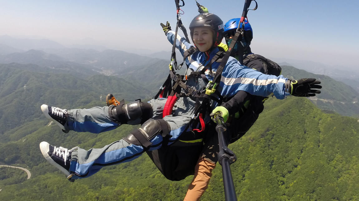 PARAGLIDING IN KOREA - Paragliding in Korea - Fly To The Sky